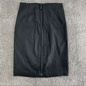 All Saints Metal Pencil Skirt in Black. NWT.